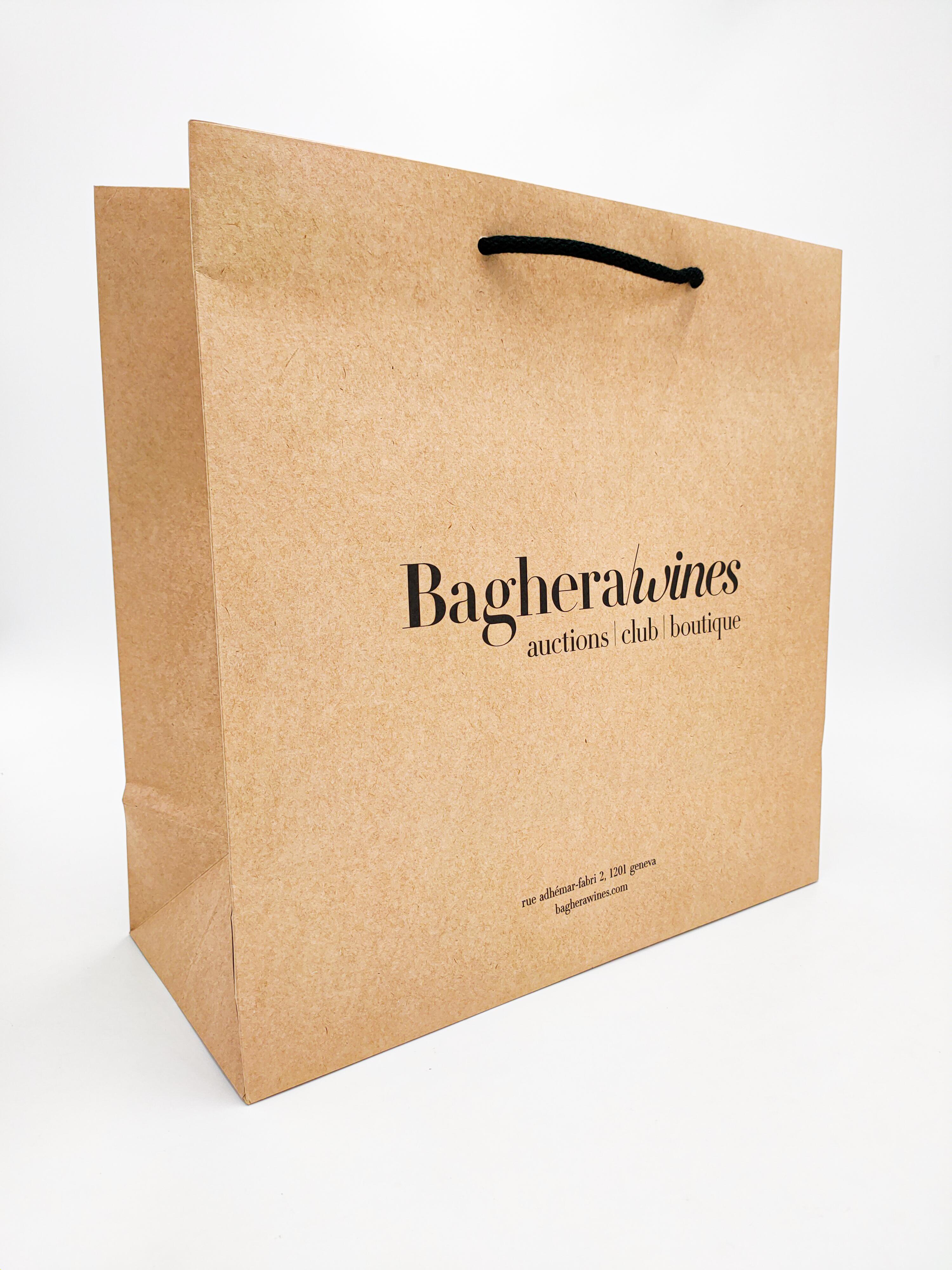 Sac en papier avec soufflet Baghera/wines - Sacs & Emballages