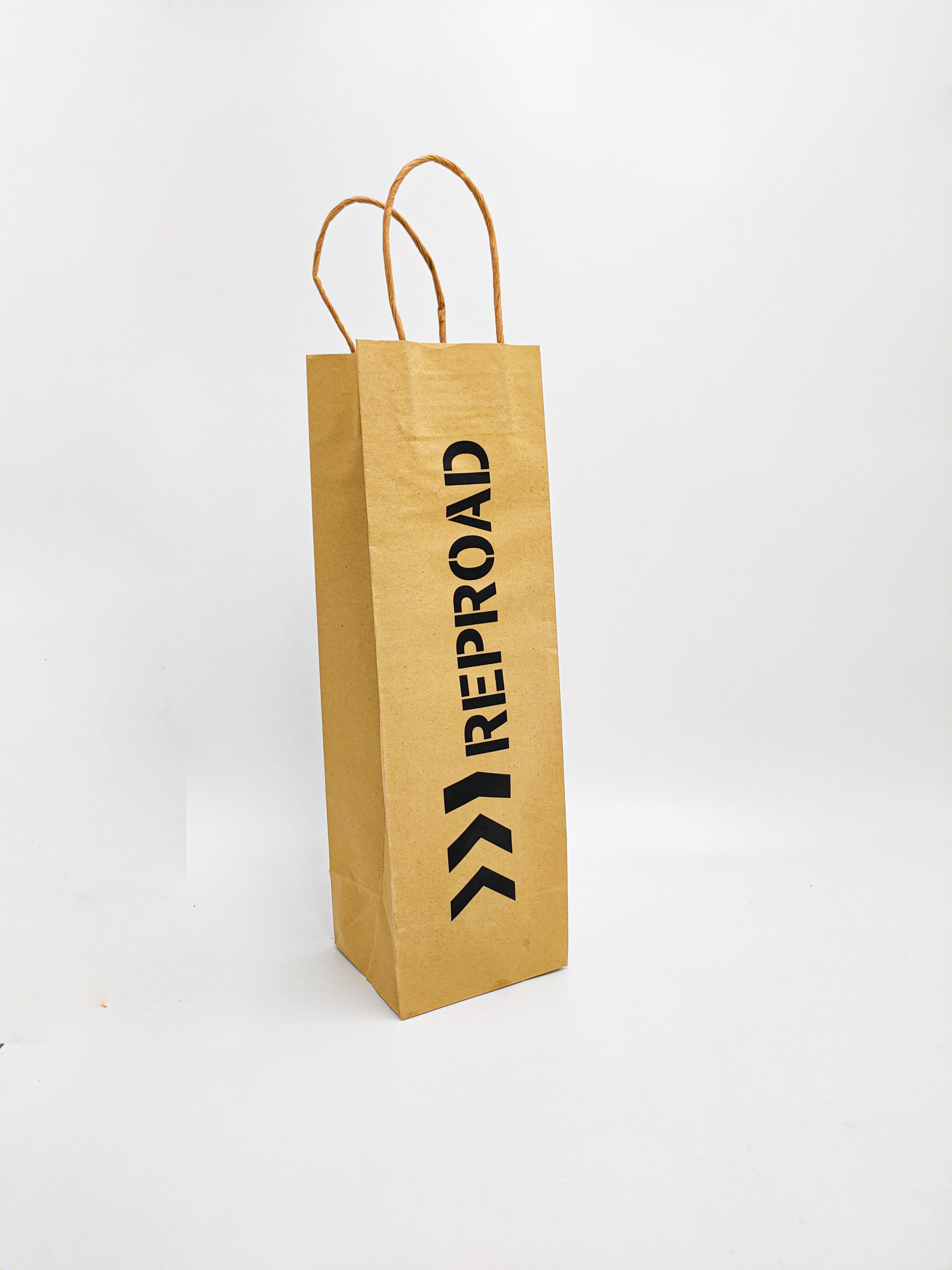 Sac en papier pour bouteille Reproad - Sacs & Emballages